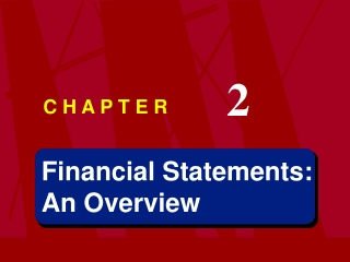 Financial Statements: An Overview