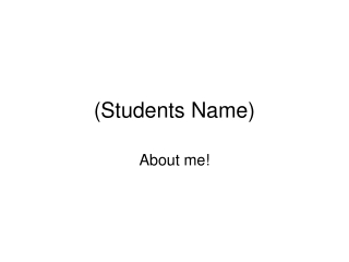 (Students Name)