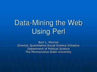 Data-Mining the Web Using Perl