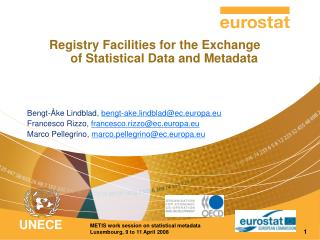 Registry Facilities for the Exchange of Statistical Data and Metadata
