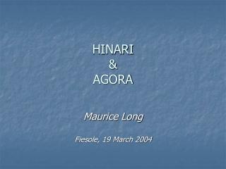 HINARI & AGORA