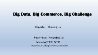 Big Data, Big Commerce, Big Challenge