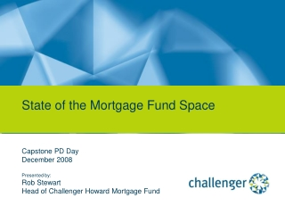 State of the Mortgage Fund Space