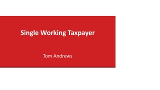 Single Working Taxpayer