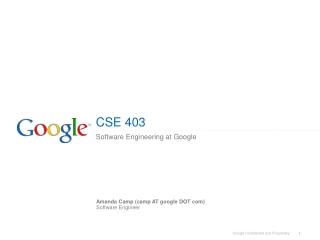 CSE 403