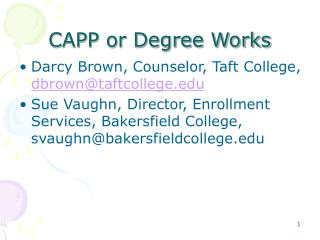 CAPP or Degree Works