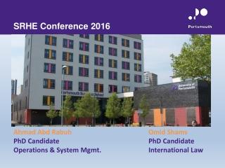 SRHE Conference 2016