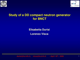 Study of a DD compact neutron generator for BNCT