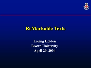 ReMarkable Texts