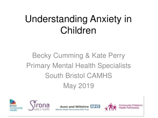 Understanding and managing anxiety in children