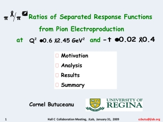 Ratios of Separated Response Functions