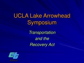 UCLA Lake Arrowhead Symposium