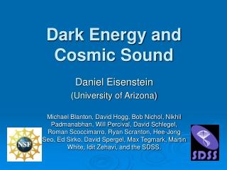 Dark Energy and Cosmic Sound