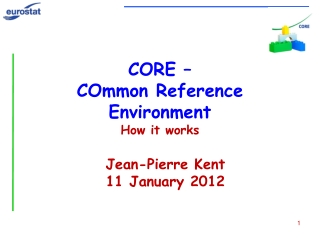 CORE – COmmon  Reference Environment How it works
