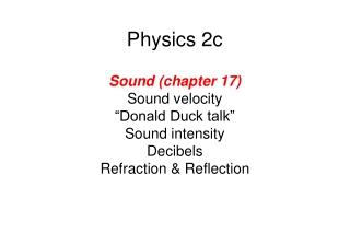 Physics 2c