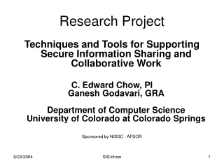 Research Project