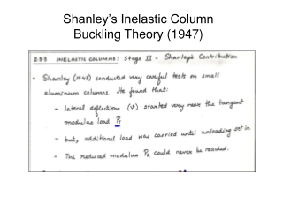 Shanley's Inelastic Column Buckling Theory (1947)
