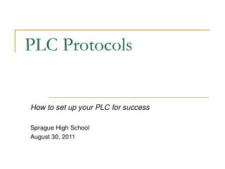 PLC Protocols