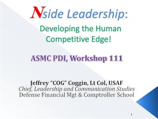 N side Leadership : Developing the Human Competitive Edge!