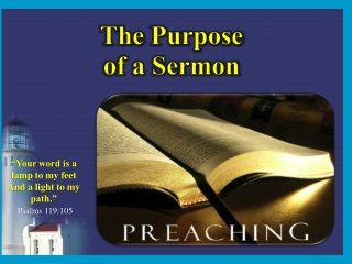 The  Purpose of a Sermon