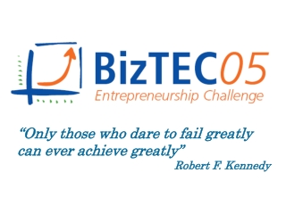"""""""Only those who dare to fail greatly can ever achieve greatly"""" Robert F. Kennedy"""