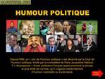 HUMOUR POLITIQUE