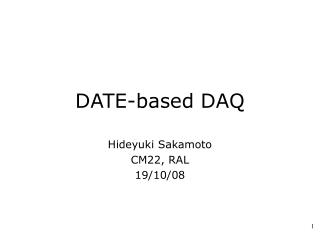 DATE-based DAQ