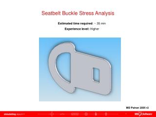 Seatbelt Buckle Stress Analysis