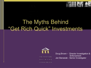 """The Myths Behind  """"Get Rich Quick"""" Investments"""