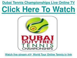 Watch 2011 Dubai Duty Free Tennis| Roger Federer vs Novak Dj