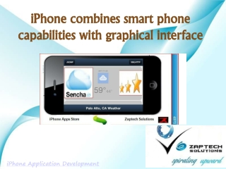iPhone combines smart phone capabilities with graphical int