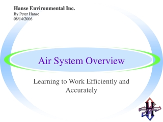 Air System Overview