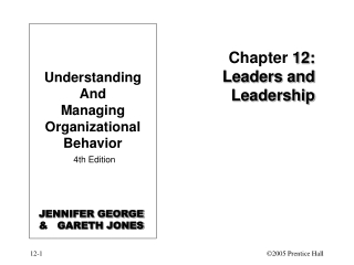Chapter  12: Leaders and Leadership