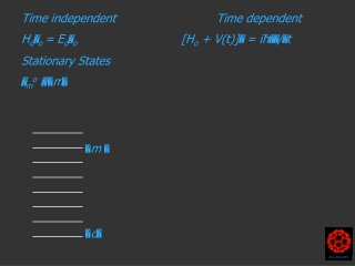 Time independent H o  o = E o  o Stationary States  m o     m 