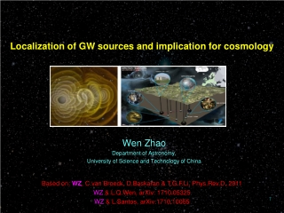Localization of GW sources and implication for cosmology