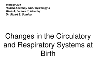 Biology 224 Human Anatomy and Physiology II Week 4; Lecture 1; Monday Dr. Stuart S. Sumida