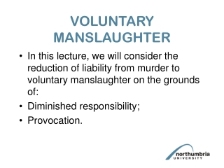 VOLUNTARY MANSLAUGHTER