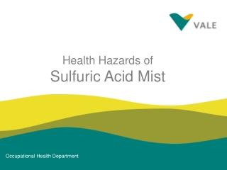 Health Hazards of Sulfuric Acid Mist