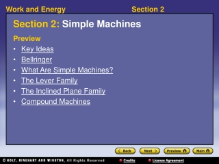 Section 2:  Simple Machines