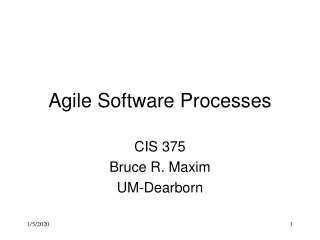 Agile Software Processes