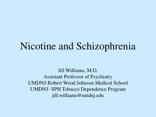 Nicotine and Schizophrenia