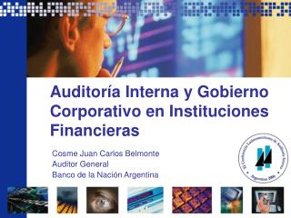 Auditor a Interna y Gobierno Corporativo en Instituciones Financieras