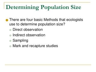Determining Population Size