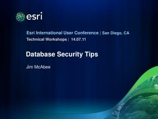 Database Security Tips