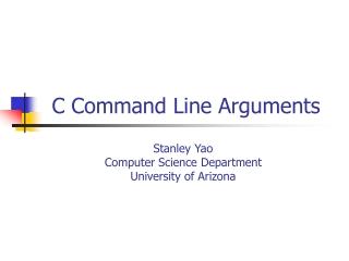 C Command Line Arguments