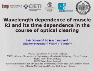 Wavelength dependence of muscle RI and its time dependence in the course of optical clearing