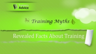 Training Myths Infographic