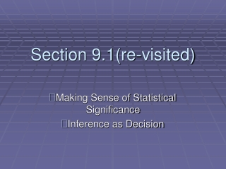Section 9.1(re-visited)