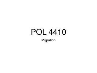 POL 4410