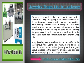 Online Jewelry Shopping - Dial Us India